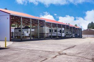 Covered RV Storage Unit
