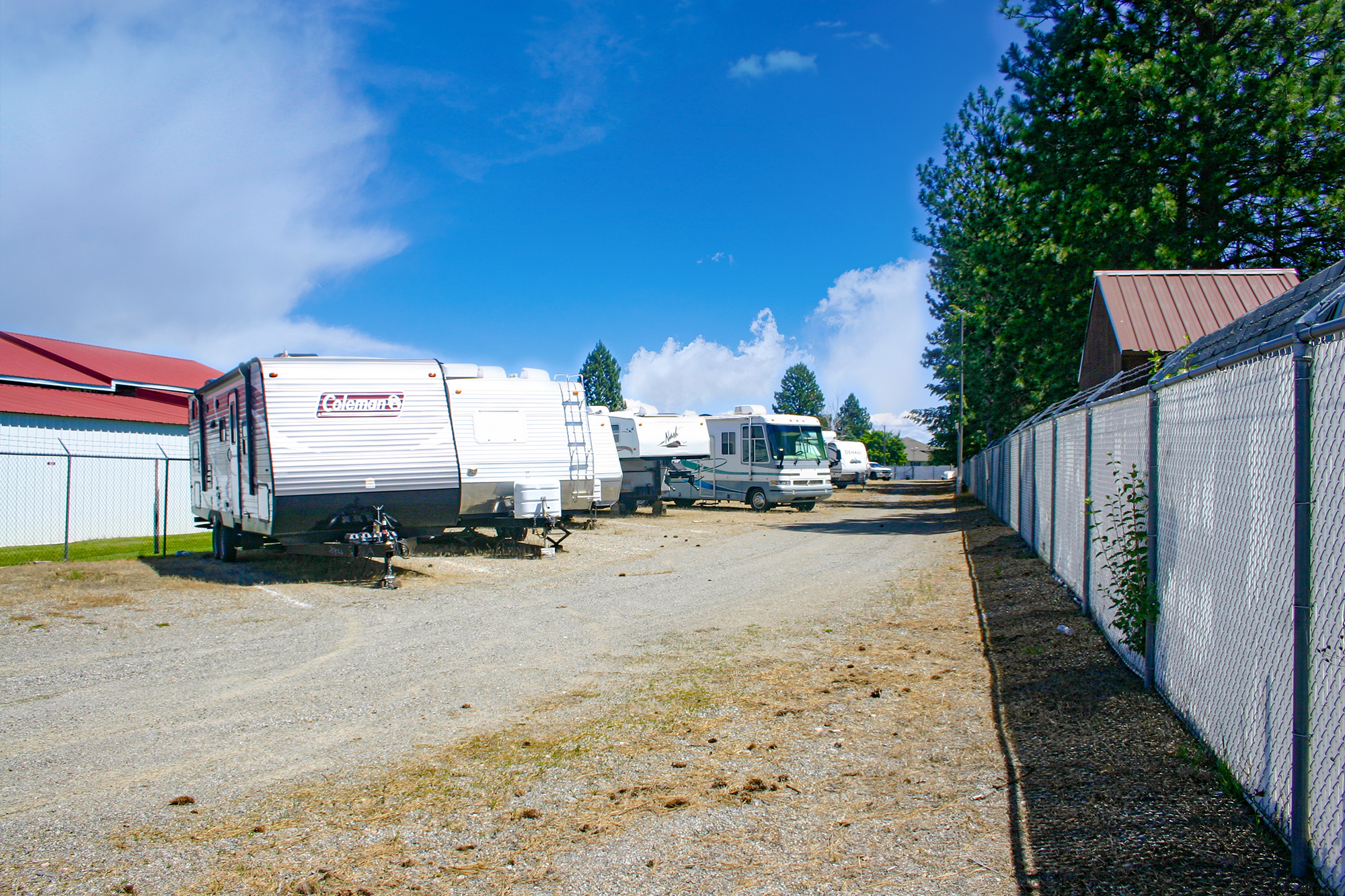 Uncovered RV and Camper Storage Parking