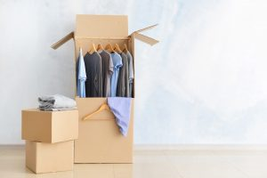 Wardrobe boxes for keeping clothes dust and damage-free.